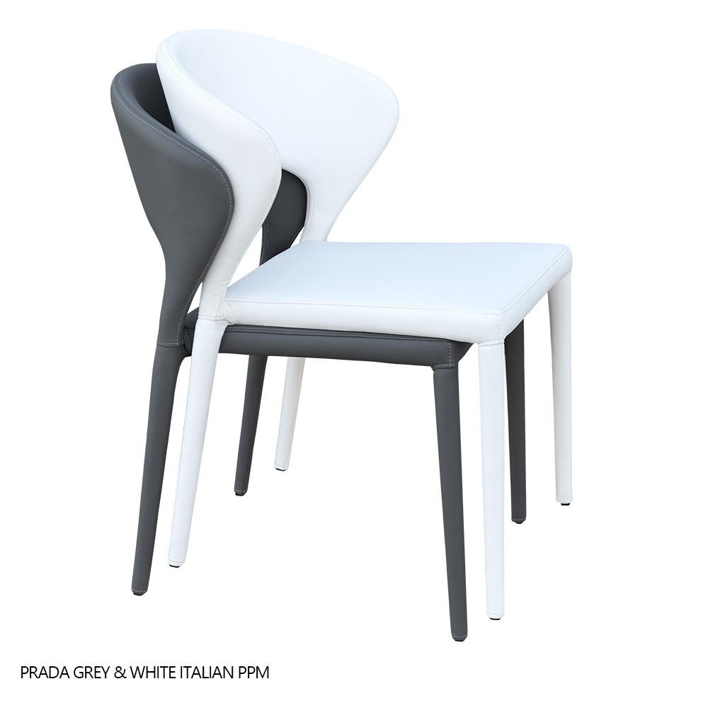 Prada stackable dining chair sohoconcept dining chairs for Stackable dining room chairs