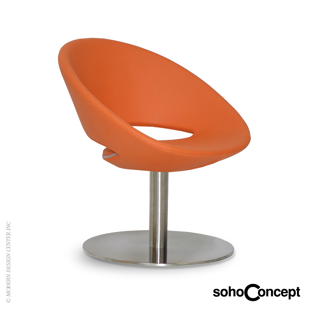 Crescent lounge swivel round chair sohoconcept lounge for Furniture chairs