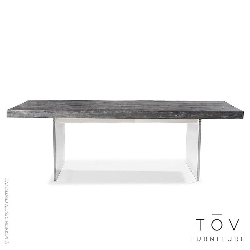 Berlin Pine and Lucite Table | Tov Furniture