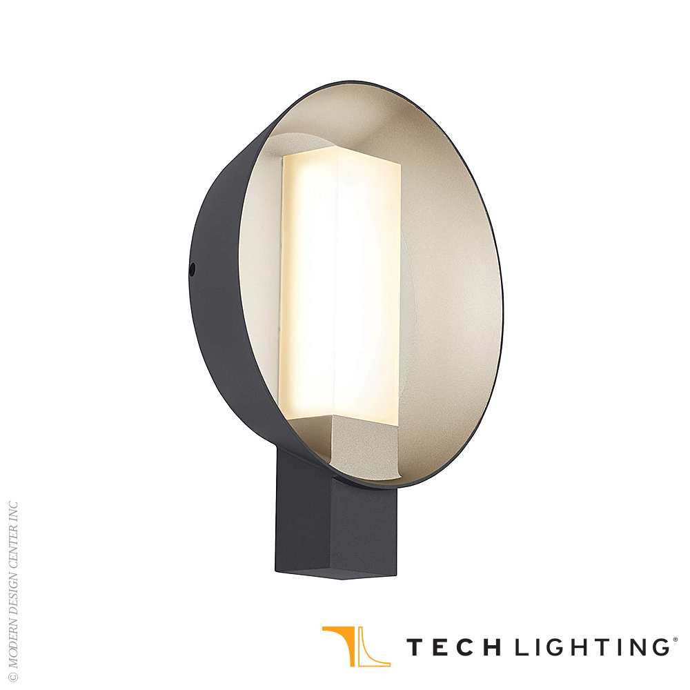 Refuge Round LED Outdoor Wall Sconce Large | Tech Lighting