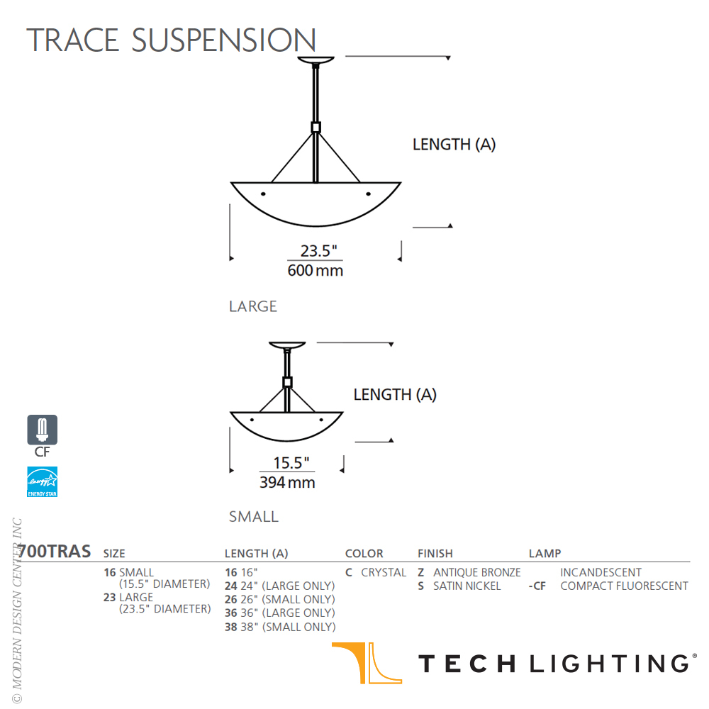 "Trace Light Suspended Lights From Sklo: Trace 16"" Suspension Light"