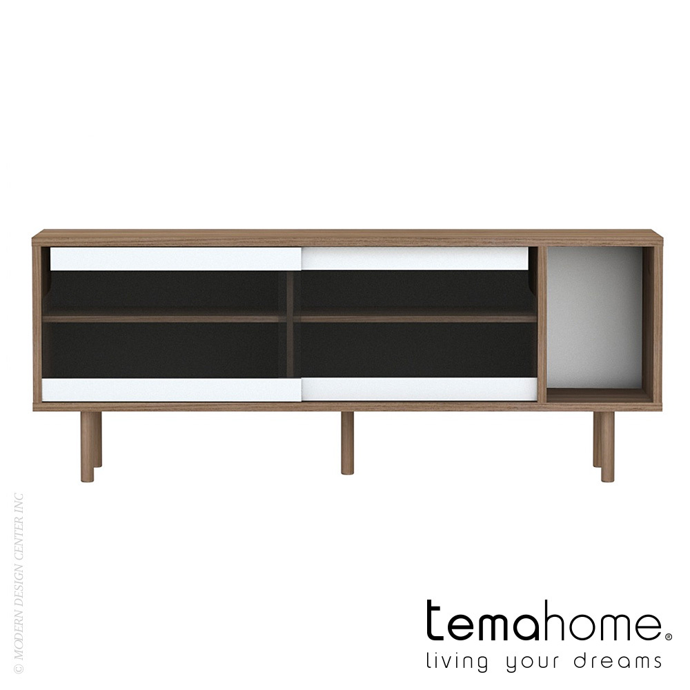 Dann Sideboard with Glass Doors  Temahome  MetropolitanDecor