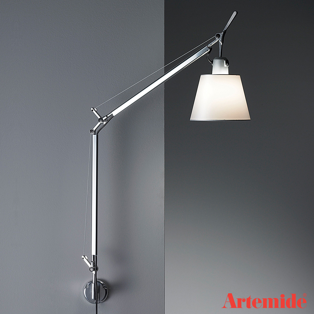 tolomeo with shade wall light artemide wall lights. Black Bedroom Furniture Sets. Home Design Ideas