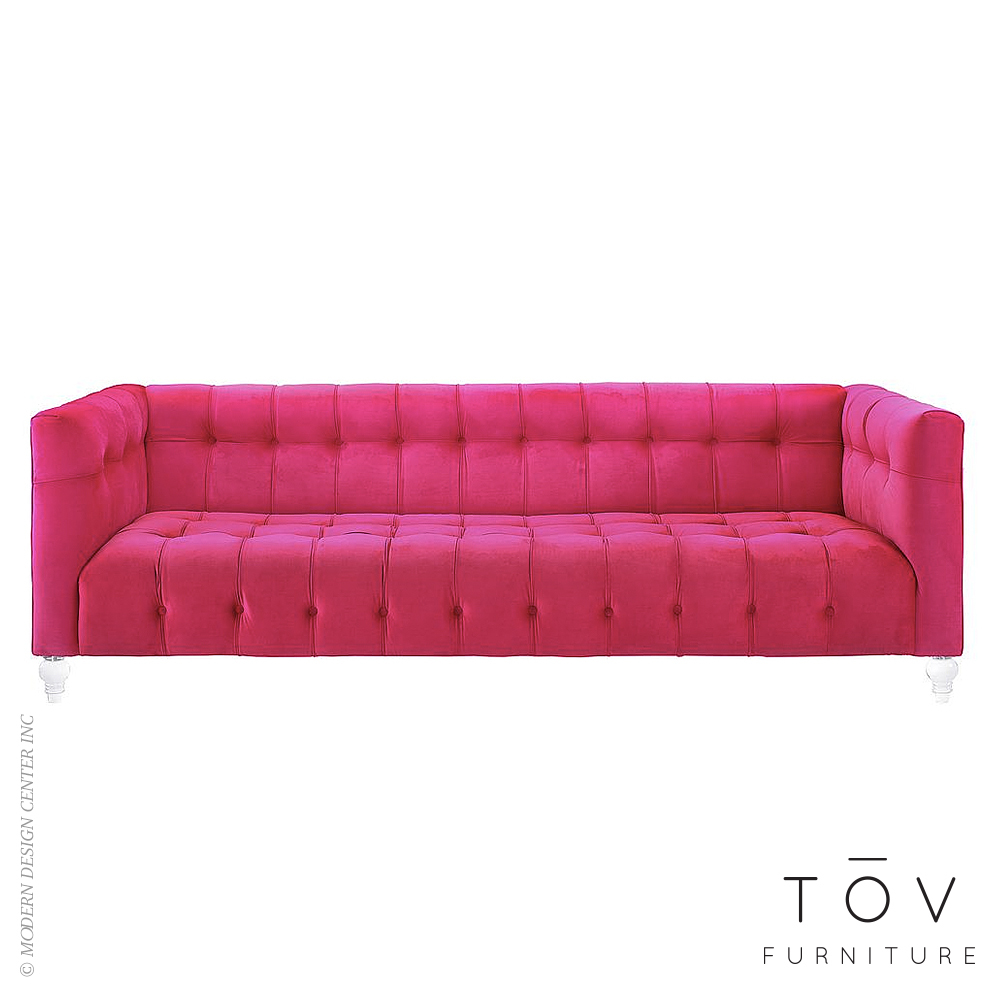 Bea Pink Velvet Sofa | Tov Furniture