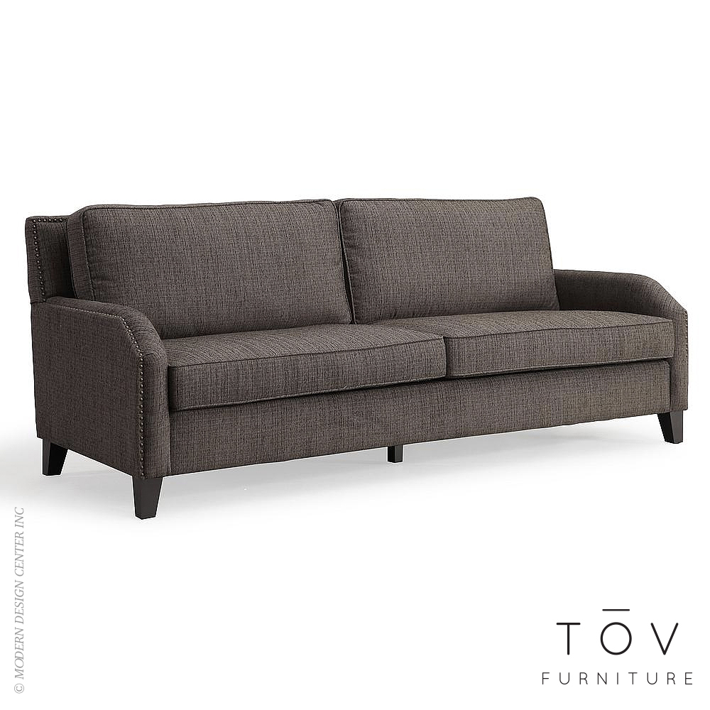 Hartford Grey Linen Sofa | Tov Furniture