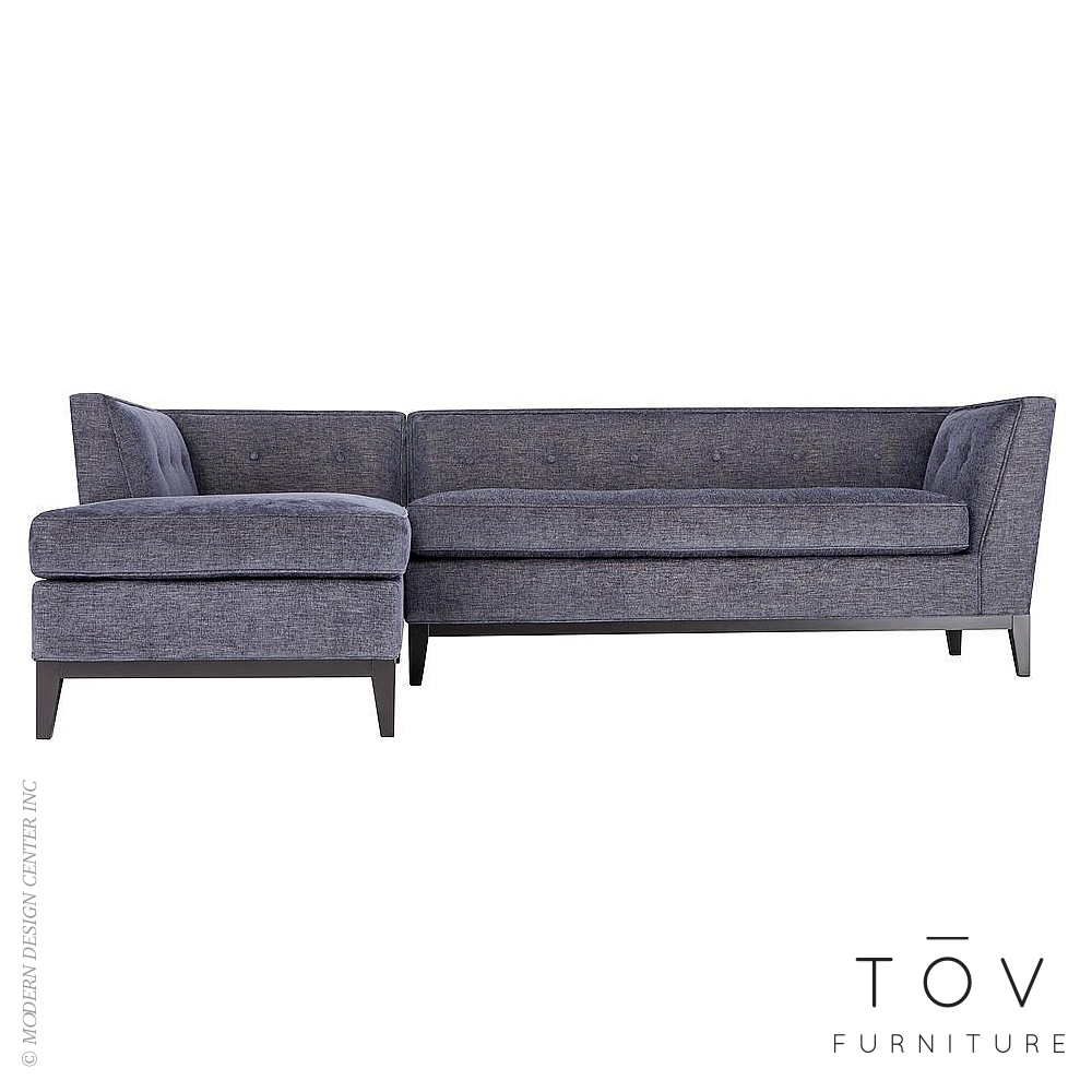Jess Grey Linen LAF Sectional | Tov Furniture