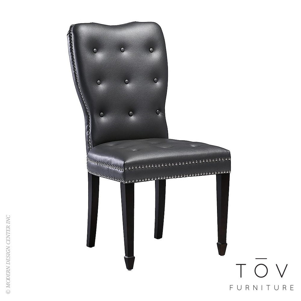 Lucca Grey Chair, set of 2 | Tov Furniture