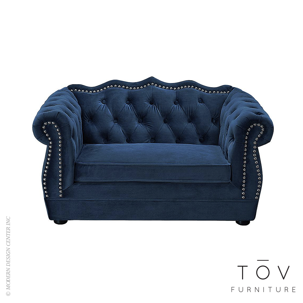 Yorkshire Navy Pet Bed | Tov Furniture
