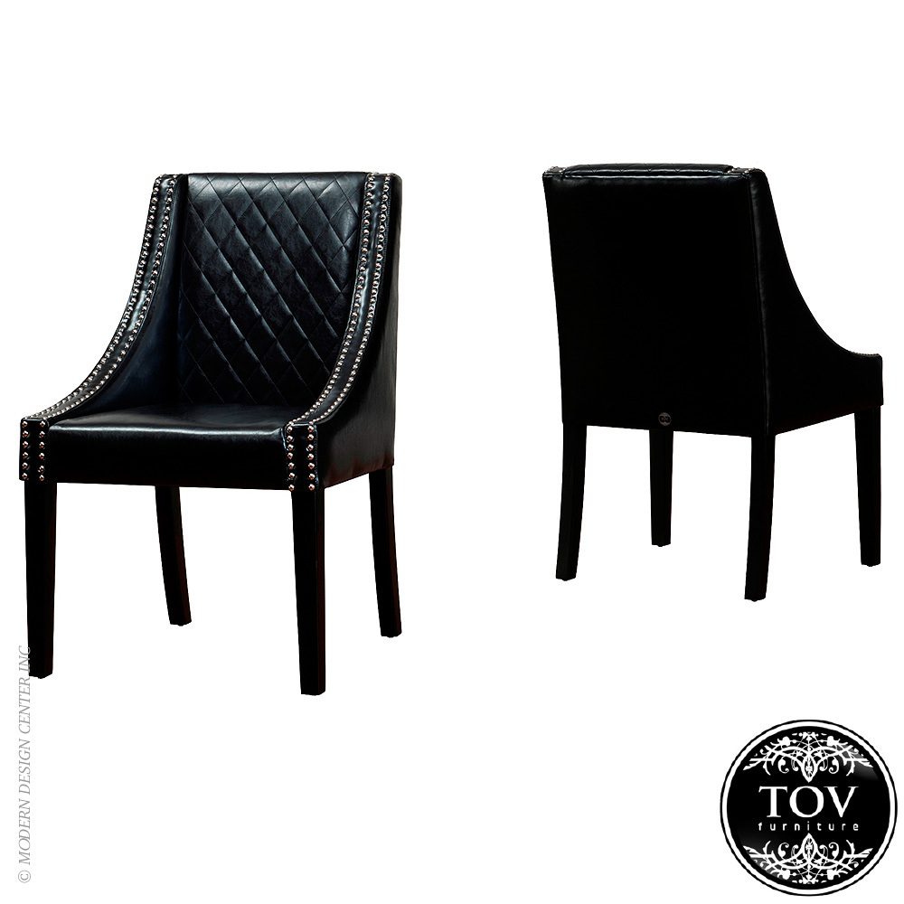 Leather dining chairs - 100 Original Tov Design
