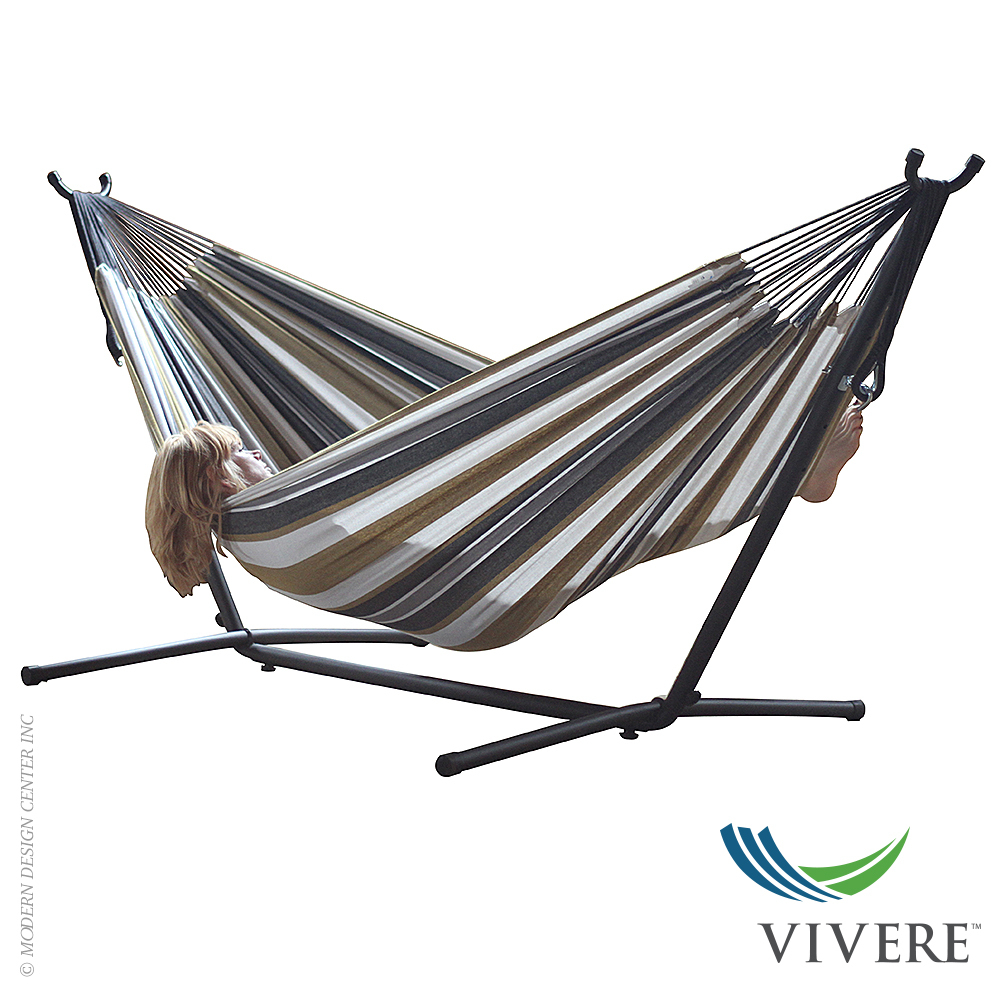 Double Cotton Hammock With Stand Combo Vivere