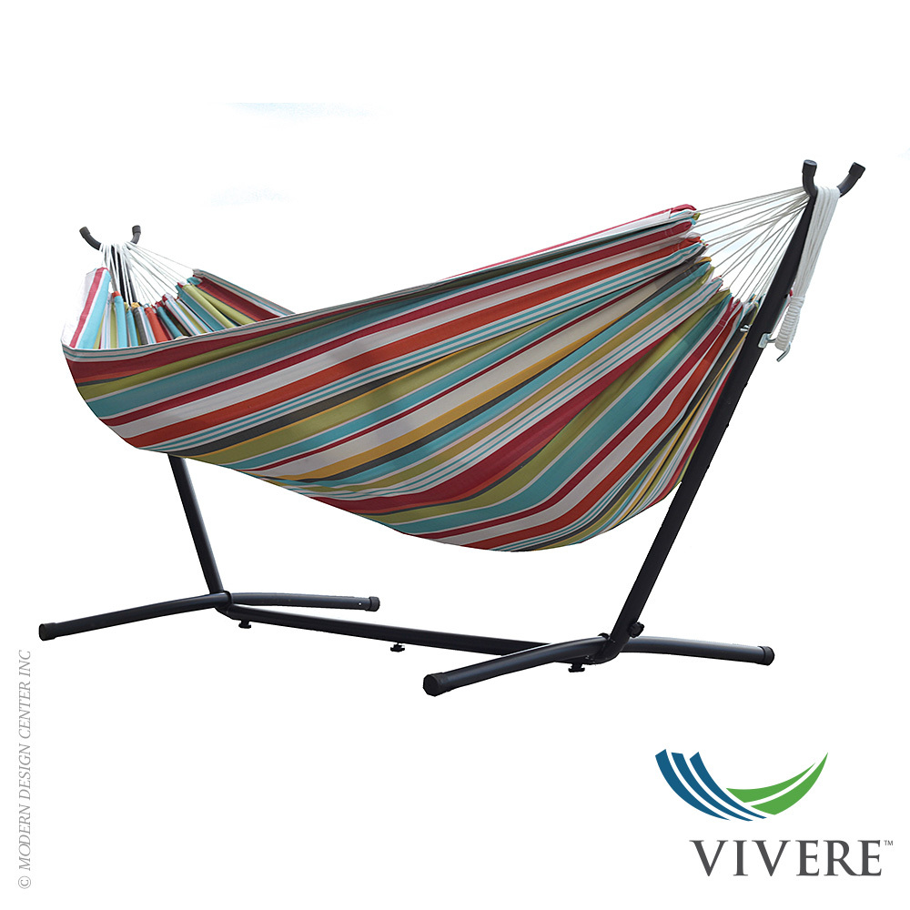 Double Polyester Hammock With Stand Combo Vivere