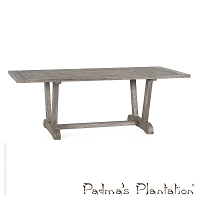 Outdoor Verona Reclaimed Teak Dining Table | Padma's Plantation