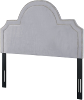 Laylah Grey Velvet King Size Headboard | Tov Furniture