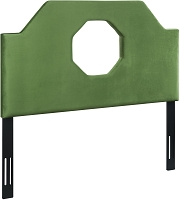 Noctis Green Velvet Queen Size Headboard | Tov Furniture