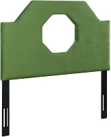 Noctis Green Velvet Twin Size Headboard | Tov Furniture