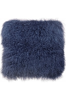 Tibetan Sheep Large Blue Pillow | Tov Furniture