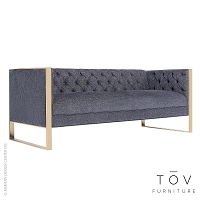 Farah Navy Sofa | Tov Furniture