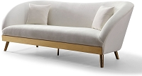 Chloe Cream Velvet Sofa | Tov Furniture