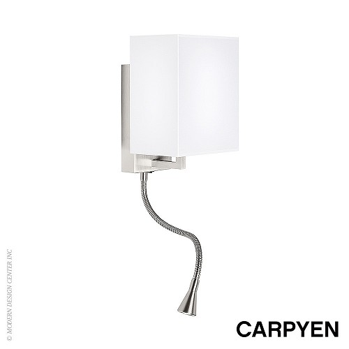 Turin Wall Sconce with Flexible Arm Carpyen MetropolitanDecor
