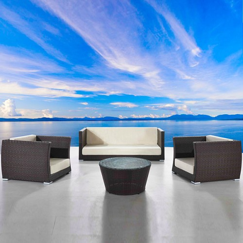 Cappuccino 4-Piece Conversation Furniture Set | Ceets
