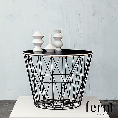 wire basket top large ferm living metropolitandecor. Black Bedroom Furniture Sets. Home Design Ideas
