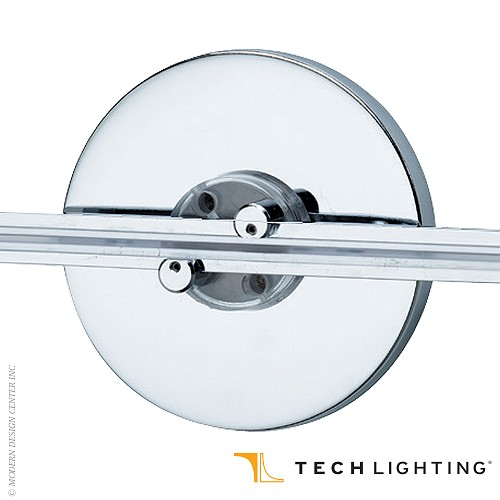 Wall MonoRail 4 Round Direct Canopy With LED Transformer Tech Lightin