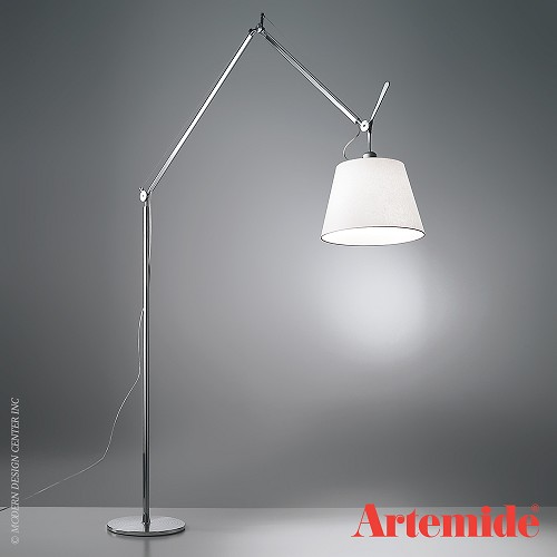 Tolomeo mega floor lamp parchment artemide black friday for Tolomeo reading floor lamp with parchment shade