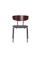 Herman Chair Upholstered Red Brown/Warm Grey | Ferm Living