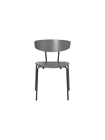 Herman Chair Leather Warm Grey/Grey | Ferm Living