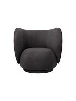 Rico Lounge Chair Bouclet Warm Dark Grey | Ferm Living