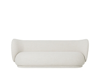 Rico 3 Seater Sofa Bouclet Off White | Ferm Living