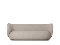 Rico 3 Seater Sofa Bouclet Sand | Ferm Living