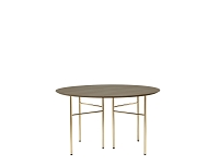 Mingle Table Top Round 130cm Dark Stained | Ferm Living