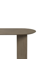 Mingle Table Top Oval 220cm Black Stained | Ferm Living