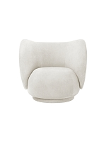 Rico Lounge Chair Brushed Off White | Ferm Living