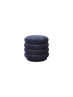 Pouf Round Faded Velvet Small Ocean | Ferm Living