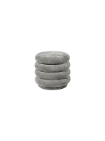 Pouf Round Faded Velvet Small Concrete | Ferm Living