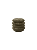 Pouf Round Faded Velvet Small Forest | Ferm Living