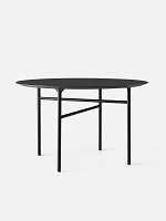 Snaregade Table Round 54 in Black Veneer