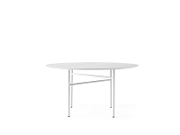 Snaregade Table Round 47 in Light Grey/Light Grey Veneer