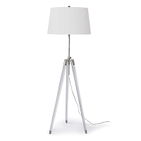 Brigitte Floor Lamp in Polished Nickel