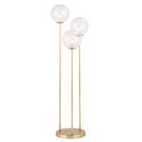 Rio Triple Floor Lamp in Natural Brass