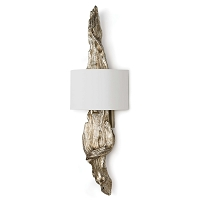 Driftwood Sconce in Silver Leaf