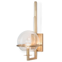 Saturn Sconce in Natural Brass