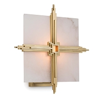 Gotham Sconce in Natural Brass