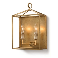 Cape Sconce in Antique Gold Leaf