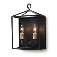 Cape Sconce in Blackened Iron