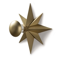 Hudson Sconce in Natural Brass
