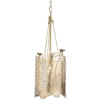 Sea Fan Chandelier Small in Polished Brass