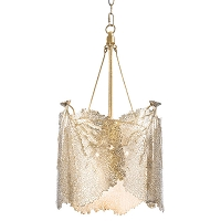 Sea Fan Chandelier Large in Polished Brass